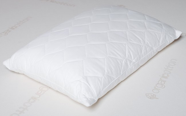 Natural wool pillow is washable and easily adjusted for loft.