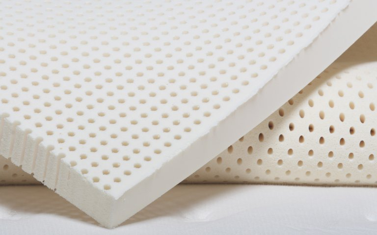 Natural Talalay latex topper detailed view.